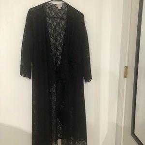 Large black lace lularoe Shirley